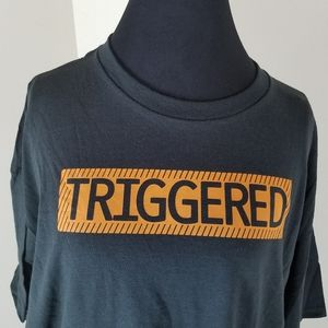 Graphic Tee Shirts - Black Short Sleeve Tee Shirt w/ Triggered Graphic